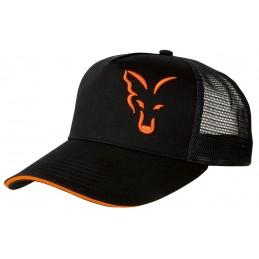 FOX BLACK ORANGE TRUCKER CAP